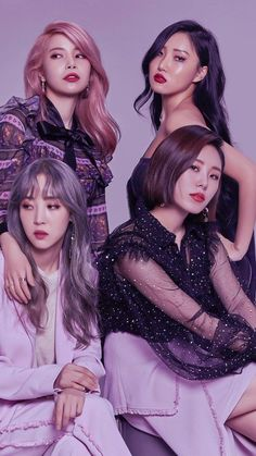 ASK K-POP Mamamoo( Korean :마마무; stylized asMAMAMOO) is a four-member South Korean girl group under the management of WA Entertainment . The group consists of members Solar, Moonbyul, Wheein, and Hwasa. They officially debuted. K Pop, Kpop Girl Groups, Korean Girl Groups, Kpop Girls, Korean Group, Icon Girl, Mamamoo Kpop, Oppa Gangnam Style, Solar Mamamoo
