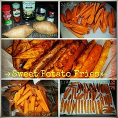 a power full journey: Sweet Potato Fries!bye, bye drive-thru! 21 Day Fix A. - - a power full journey: Sweet Potato Fries!bye, bye drive-thru! 21 Day Fix Approved Delicious Snack Healthy Side Dishes, Vegetable Side Dishes, Real Food Recipes, Vegan Recipes, Vegan Food, 21 Day Fast, Daniel Fast Recipes, Veggie Fries, Bye Bye