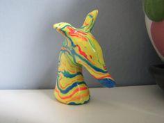 "Greyhound Whippet Galgo Figurine Sculpture ""Mellow Yellow"" by Greyhound Cleyhounds"