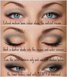 26 Trendy Makeup Tutorial Eyeshadow Hooded Eyelids Droopy Eyes – make-up ideen Makeup For Droopy Eyelids, Eyeshadow For Hooded Eyes, How To Apply Eyeshadow, Smokey Eyeshadow, Eye Shadow Hooded Eyes, Eyeshadow Palette, Makeup Eyeshadow, Small Eyelid Makeup, Natural Eyeshadow