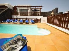 Holiday Villa in Playa Blanca, Vista Lobos with beach/lake nearby and jacuzzi/hot tub