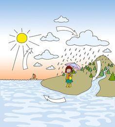 Nela mitten im Wasserkreislauf (als Ausmalbild in Nelas Welt)