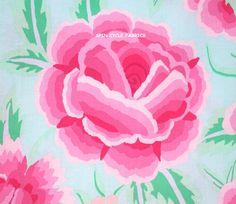 1 Fat Qtr KAFFE FASSETT EMBROIDERED SHAWL GP106 Pink Flowers Westminster Quilt