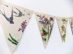 upcycled bunting #weddings #PeonyandThistle