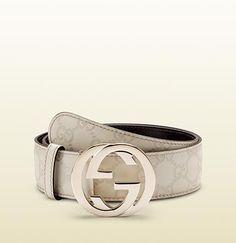 Leather Belt - Ivory Gucci T12yiE6Xu5
