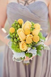Gray simple bridesmaid dress - Wedding look