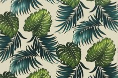 - Cotton Fabric: All-Over Hawaiian Print Fabric Hawaiian Print Fabric, Tropical Art, Printed Cotton, Plant Leaves, Cotton Fabric, Ivory, Playsuit, House Ideas, Jumpsuits