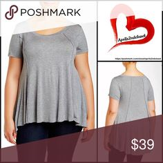 """❗1-HOUR SALE❗Tunic TEE Pullover 💟NEW WITH TAGS💟  SIZING- 2X = 18W-20W, 3X= 22W-24W, 4X = 26W-28W Tunic TEE Pullover  * Relaxed fit & swing silhouette   * Incredibly soft, stretch-to-fit T-Shirt fabric   * Pintucked seams, short sleeves, & hi-lo hem  * Approx 26-31"""" long  * Scoop neck  * True to size, made in the USA Fabric: Rayon, 5% spandex                                                 Color: Dark Heather Grey Item#B92700 # Oversized boyfriend slouchy slub marled 🚫No Trades🚫 ✅ Offers…"""