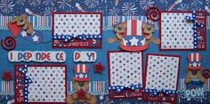 Independence Day 4th of July Boy Girl 2 Premade Scrapbook Pages Layout   eBay