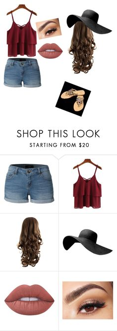 """""""Untitled #112"""" by yayhey ❤ liked on Polyvore featuring LE3NO, Lime Crime and Lancôme"""
