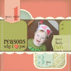 layout using the sale.bration FREE paper from SU! Photo Layouts, Scrapbook Page Layouts, Scrapbook Cards, Cute Scrapbooks, Reasons Why I Love You, Digital Scrapbooking, Scrapbooking Ideas, Card Sketches, Layout Inspiration
