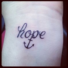 Hope anchor tattoo