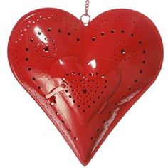Hang this cute red heart shaped candle holder for a great retro look. With or without a candle it brings charm to any home. Large Candle Holders, Tealight Candle Holders, Tea Light Candles, Tea Lights, Heart Decorations, Christmas Decorations, The Memory Keeper's Daughter, Retro Look, Love Heart