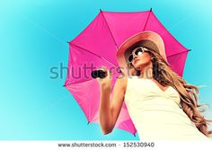 Umbrella Girl Stock Photography | Shutterstock