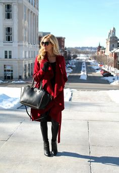 Red Waterfall coat Under $35