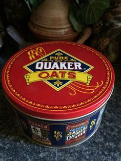 A personal favorite from my Etsy shop https://www.etsy.com/listing/292738971/quaker-oats-limited-edition-tin-1983