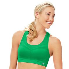 1dbf144293915 Champion Double Dry® Seamless Racer-Back Sports Bra