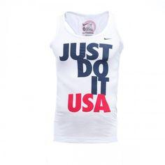 2012 Olympics Nike Just Do It Women's Racerback Tank - White