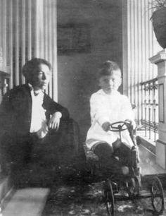 Grand Duchess Olga Alexandrovna with her son Tihkon.