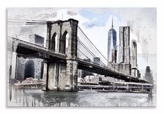 Check out our new Canvas Art  http://thousandface.myshopify.com/products/brooklyn-bridge-canvas-abstract-water-landscape-wall-art-picture-home-decor?utm_campaign=social_autopilot&utm_source=pin&utm_medium=pin  #canvas art # thousandface