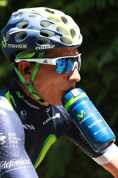 Colombia s Nairo Quintana drinks as he rides during the 216 km fifth stage of  the edition of the Tour de France cycling race on July 6 2b77d4cad