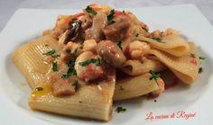 Paccheri rana pescatrice e funghi porcini un primo piatto da veri intenditori, raffinato e di gran gusto sorprenderà di sicuro anche i palati raffinati