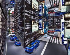 Audi's Hanging City by KMS Blackspace + SCHMIDHUBER