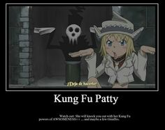 Soul eater<<and of course you can't miss Lord Death in the background...