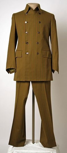 Suit Date: ca. 1967 Culture: American or European Medium: wool