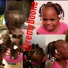 Black Baby Girl Hairstyles, Black Kids Braids Hairstyles, Toddler Braided Hairstyles, Children Hairstyles, Protective Hairstyles For Natural Hair, Girls Natural Hairstyles, Braids For Black Hair, Natural Hair Styles, Toddler Braid Styles