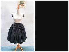 Lola Skirt Solid Black in Plain Cotton Twill