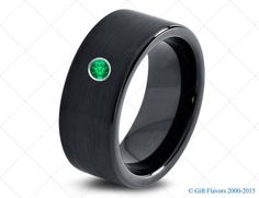 Tungsten Wedding Band,9mm,Mens Wedding Bands,Black Tungsten,Green Emerald Band,Mans,Mens,Carbide,Male,Diamond RIng,Men,His,Hers,Set,Size,Him