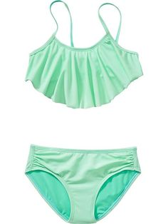 Girls Ruffle-Top Bikinis Product Image