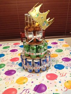 A beer  cake built for a  king!