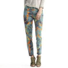 Rachel Roy: Happy Hour > Icon Skinny Ankle Printed Jean