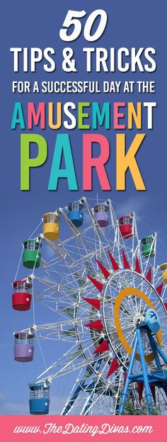 Tips and tricks for a successful day at the amusement park! How to prepare, what to pack, ways to save money and more! Plus, free printable organizers! Printables designed by http://www.printablecrush.com http://www.TheDatingDivas.com