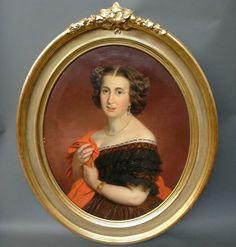 Dama da nobreza em 1863 - século XVIII. Pintura de Franz Joseph Dobiaschofsky.