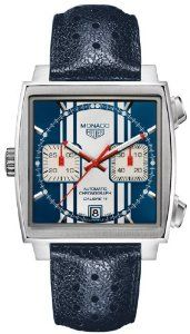 Tag Heuer Monaco Automatic Chronograph Blue and White Dial Mens Watch CAW211DFC6300