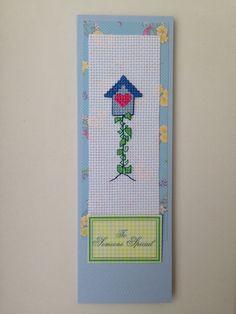 Bird house cross stitch original handmade by PosieAndMarmalades