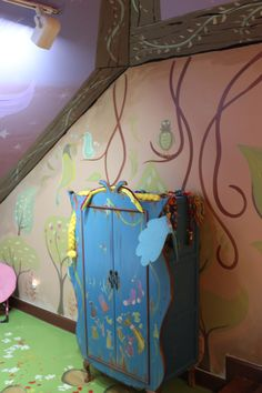 #wardrobe #closet #art #murals #girlsbedroom #kidsroom #disney #tangled #rapunzel