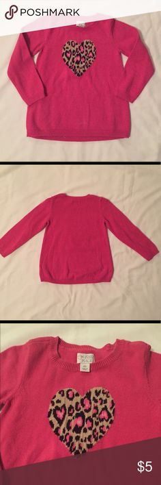 CHILDREN'S PLACE - Little Girl Leopard Sweater 4T Cute sweater with a touch of sass! Gently used. In great condition! Make me an offer!✨ Children's Place Shirts & Tops Sweaters