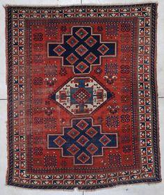 antique caucasian kazak oriental rug