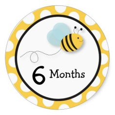 Shop Bumble Bee Monthly Milestone Stickers created by PoshPartyPrints. Personalize it with photos & text or purchase as is! Printable Stickers, Custom Stickers, First Birthday Centerpieces, Godchild Gift, Baby Month Stickers, Baby Letters, Baby Room Art, Baby Milestones, Baby Month By Month