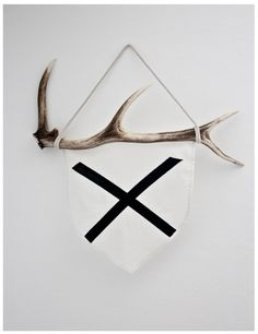 ETHICALLY SOURCED FROM THE WILD.  The Antler Flag is part of our Wild By ATTIK72
