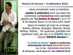 AUTOSTIMA TOUR 2016 - Marina di Carrara - conferenza autostima 3 settembre…