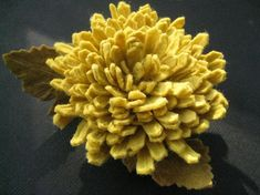 Wool Felt Chrysanthemum: I would like to learn how to make this. $25.