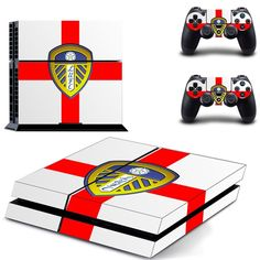 leeds united fc ps4 skin decal for console and controllers