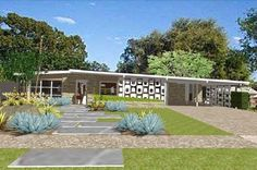 The Ranch House of the Future – Retro Ranch Mid Century Ranch, Mid Century House, Mid Century Style, 21st Century, Modern Landscape Design, Modern House Design, House Landscape, Modern Exterior, Exterior Design