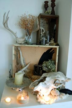 I love, Love, LOVE this altar!!!! So my personality!!