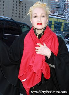 #CyndiLauper Wears A Ruby #RedSilkScarf To The Wendy Williams Show